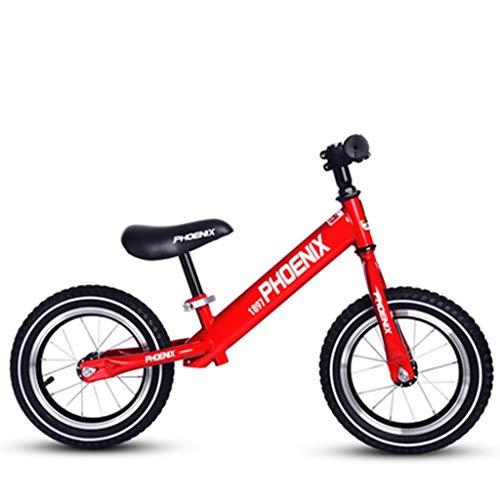 SSRS Auto bilanciamento Ruote in Gomma for Bambini 2-6 Anni Senza Pedali Auto Scivolo for Bambini a Due Ruote in Acciaio al Carbonio (Color : Red)