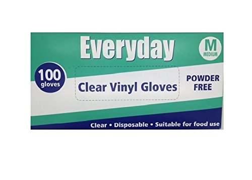 Price comparison product image Everyday My Care Medium Clear Powder Free Disposable Vinyl Glove - Pack of 100