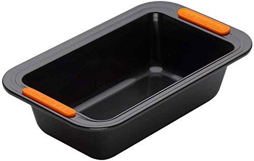 Le Creuset Antihaft Kastenform, Rechteckig, 23,5 x 13,5 cm, PFOA-frei, Sauerteigbeständig, Aus Karbonstahl gefertigt, Anthrazit/Orange