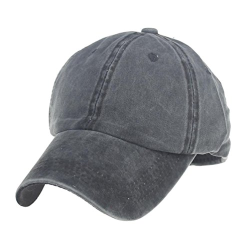 Bovake Mode Frauen Männer Paar Baseball Cap Unisex Hysteresen Hip Hop Hut Cap (Dark Gray) (Logo Basic Einstellbare Hut)