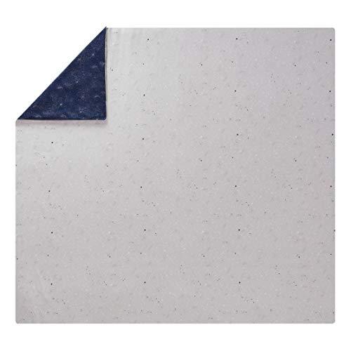 ESSIX Belle Étoile Housse de Couette, Satin de Coton, Bleu Nuit, 260x240 cm