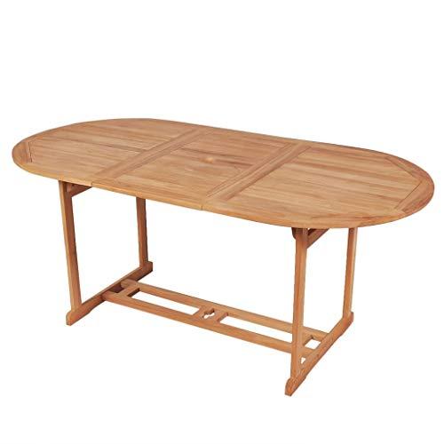 vidaXL Teck Table de Salle à Manger d'Extérieur Jardin 180 x 90 x 75 cm