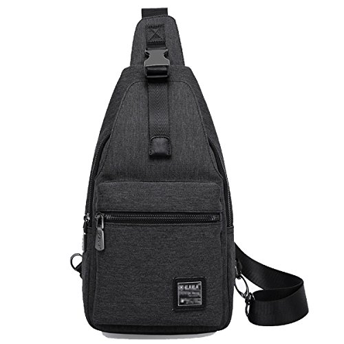 Mode Freizeit Outdoor Messenger Bag Classic Chest Pack Black