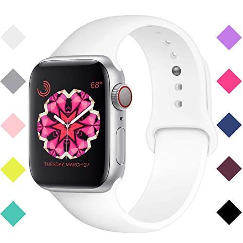 9efb1f96e1498 VODKER para Apple Watch Correa, 38mm 40mm 42mm 44mm Silicona Suave  Reemplazo Sport Banda para iWatch Apple Watch Serie 4/Serie 3/Serie 2/Serie  1, ...
