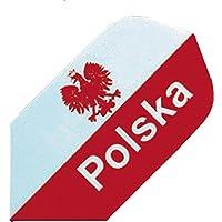 EmbassySports Bull 's Powerflite para dardos Slim Shape 100micron Polonia