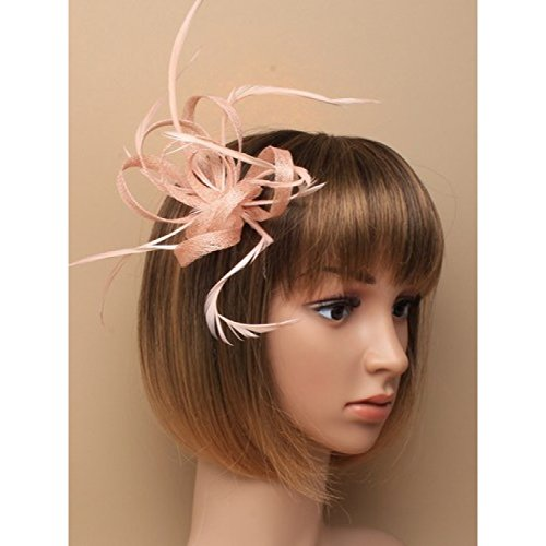 Preisvergleich Produktbild Nude Fascinator on Headband / Clip-in for Weddings,  Races and Occasions-5906
