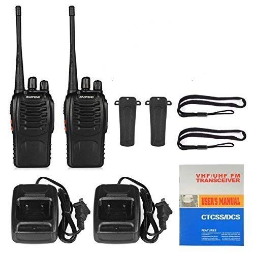 RFV1(tm) BF-888S UHF 400-470MHz CTCSS/DCS with Earpiece Handheld Amateur Radio Tranceiver Walkie Talkie Two Way Radio Long Range Black 2 Pack