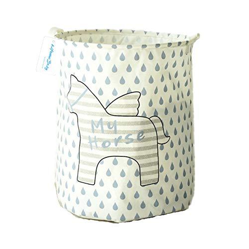Lifenewbaby grande borsa di tela per il bucato - stripe horse