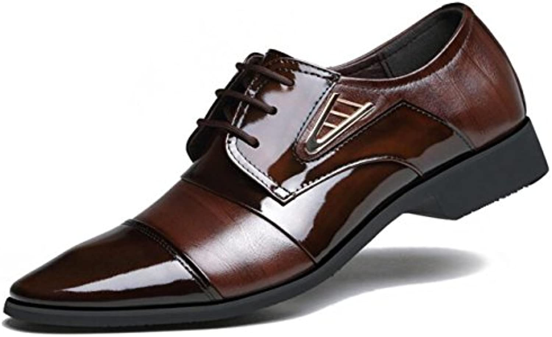 Herrenschuhe Business Schuhe England Freizeit Wild Spitze Leder Hochzeitsschuhe