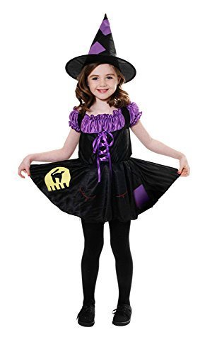 Halloween girls Witch Cat Costume Large 10-12 Years by Party Bags 2 Go