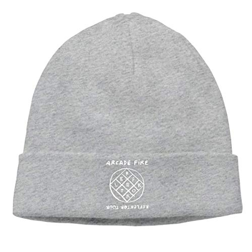 Unisex Arcade Fire Reflektor Cuffed Plain Skull Knit Hat Cap Snowboard Hat Black Comfortable13459 -