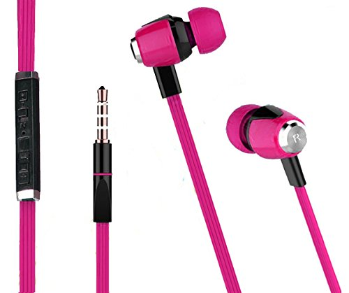 Exclusive Deals, Great Indian Sale, Golden Hour Deals, Premium High-Quality Stereo with Bass Metal Headset In Ear Piston iZEE Metal Finish Universal HiFi Sound Effect Clear Human Voice and Flat Tangle-Free Cable Earphone Volume Control in-line remote with Mic any iPod, iPhone, iPad, Android device, mp3 player, CD player, portable DVD player, PSP, MD, radio or laptop computer - QUEEN PINK  available at amazon for Rs.269