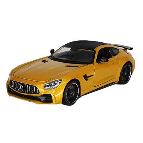 MUYB Automodell Druckguss Auto 1:24 Mercedes-Benz AMG GTR Sportwagen-Legierung Automodell-Sammlung Automodell (Farbe : Gold, größe : 19.5cm*8.5cm*5.5cm)