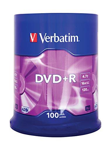 Verbatim 43551 DVD+R Pc Komponent Silber- 100 Stück