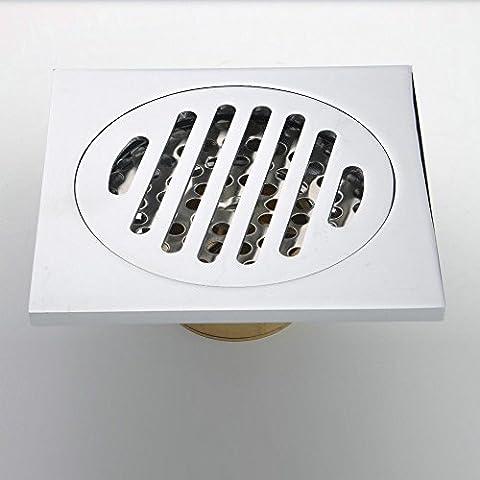 CAC Cuarto de baño contemporáneo de latón macizo con acabado cromado un desagüe en el suelo cubierta del