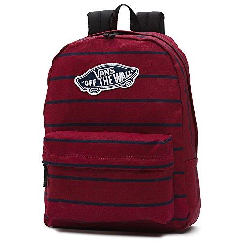 Imagen de vans realm backpack  tipo casual, 42 cm, 22 liters, rojo tibetan red stripe