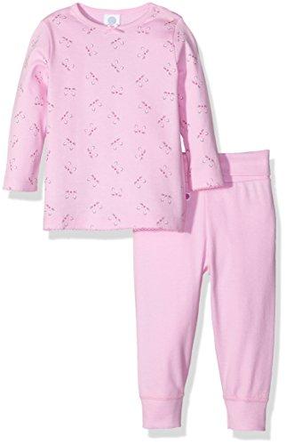 Sanetta Baby-Mädchen Zweiteiliger Schlafanzug 221251, Rosa (Sorbet 3956), 98