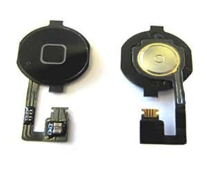 Nappe de bouton Home et bouton Home Noir iPhone 4