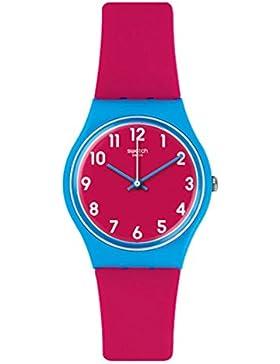 Swatch Damen Armbanduhr Digital Quarz Silikon GS145