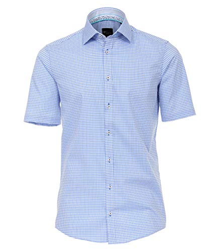 Dobby-hemd (Venti Herren Dobby Hemd Halbarm kariert Slim Fit)