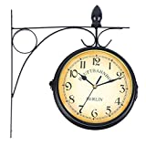 c524a2dea0a4 Soporte Montaje en Interior y Exterior para Doble cara Reloj de pared  Estación de Tren Jardín Reloj