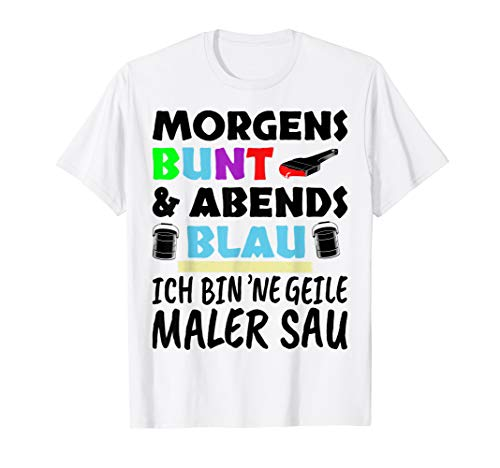 Herren Maler Geschenk Malermeister T-Shirt Lustiger Spruch