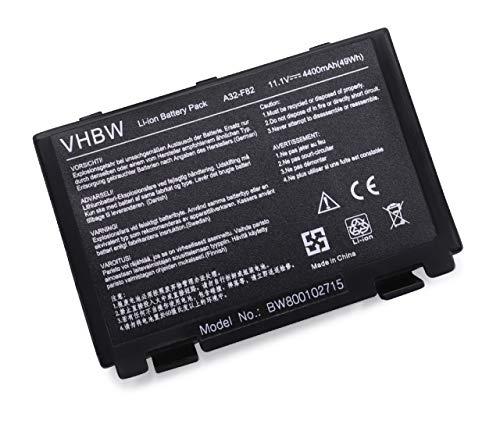 vhbw Li-Ion Akku 4400mAh (11.1V) für Notebook Laptop Asus X5dab, X5dab-sx070c, X5dab-sx070v, X5dad, wie A32-F82, A32-F52, L0690L6.