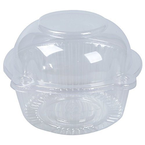 SODIAL(R) 50 x Simple plastique transparent Support de petit gateau / gateau conteneur Dome Muffin Transporteur
