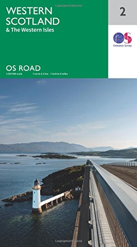 Western Scotland & the Western Isles 1:250000 (OS Road Map, Band 2)