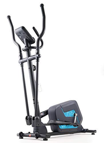 Hop-Sport Crosstrainer HS-055C Corsa Ellipsentrainer 12kg Schwungmasse - Ellipsen Crosstrainer max. Benutzergewicht 135kg(Blau)