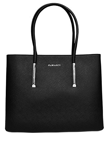 Épaule Nanucci Co Filleformat By Floraamp; Et Cuir Cabas Simili Cours Rigide Striénoir Main De Sac A4Porté 9DIYE2WH