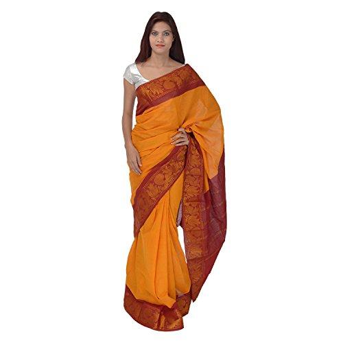 Saundarya Sarees Cotton Saree (57Hpkolsoctbr_Orange)