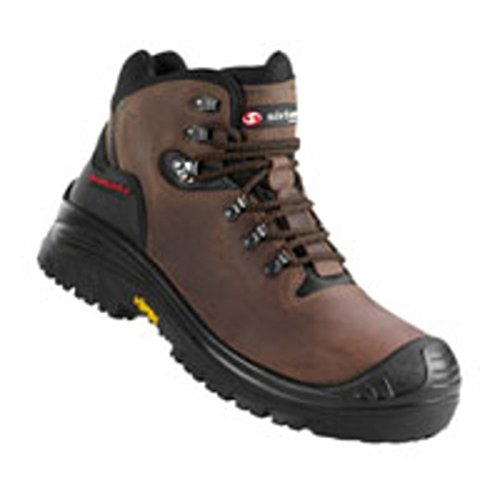 Sixton Stelvio 80087-01 S3 brun cuir de Nubuck graissé Safety Boot marron