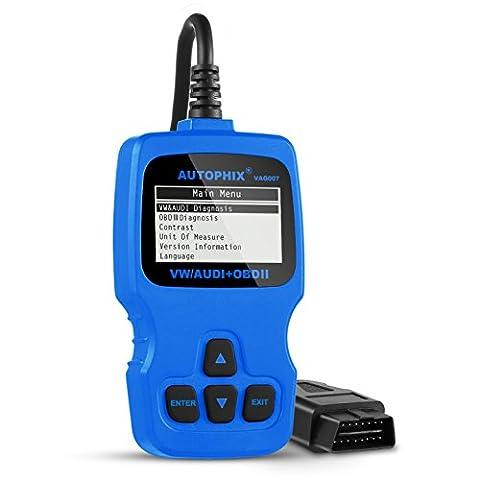 OBD2, AQV VAG007 Bleu, Scanner de diagnostic, lecteur de code