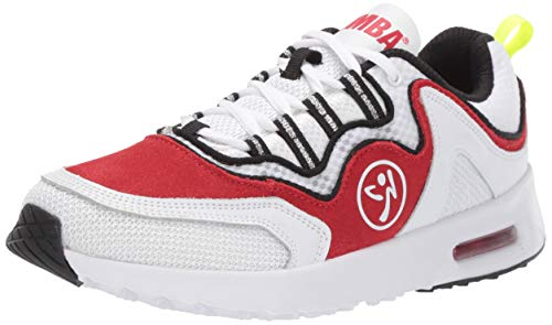 Zumba Damen Women\'s Classic Fashion Dance Workout Shoes with Max Impact Protection Air, klassisch, modisch, Tanz, Fitness-Schuhe, mit maximalem Stoßschutz, rot, 38 EU