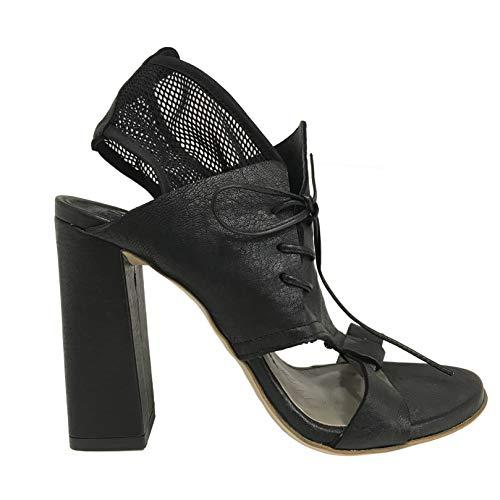 IXOS Sandale Glattleder Schwarz Damen Art X16E50047 Made in Italy (Absatzhöhe; cm 10, Plateau: cm 0.5) (39 EU)