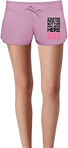 Started From The Bottom Slogan Damen Sommer Sweat Shorts Summer Sweat Shorts For Women & Ladies | 80% Cotton-20%Polyester| DTG Printing| Unique & Custom X-Large