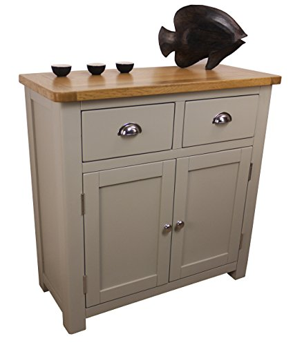 aspen painted oak sage grey mini sideboard 2 door 2. Black Bedroom Furniture Sets. Home Design Ideas