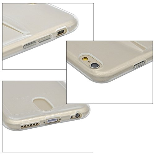 Wkae Case Cover ultrathin tpu - schutzhülle mit kartenschlitz für das iphone 6 &65 ( Color : Transparent ) Transparent