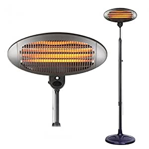 Prem-I-Air Quartz Stand Patio Heater 2000W