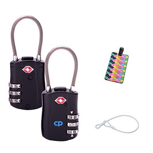 Clarifyproblem Candados de Cable con Combinación de 3 Marcaciones para Equipajes – Aprobados por el TSA