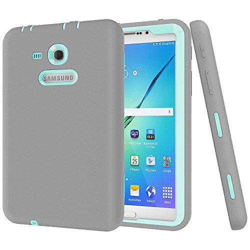 Galaxy Tab 3 Lite 7.0 Hülle, SM-T110/T111 Hülle, Darmor [Heavy Duty] [Hybrid] PC + Silikon Hybrid-Schutzhülle dreilagig Armor Defender Full Body Schutzhülle für Galaxy Tab 3 Lite 7.0 grau (Etsy Ebay)