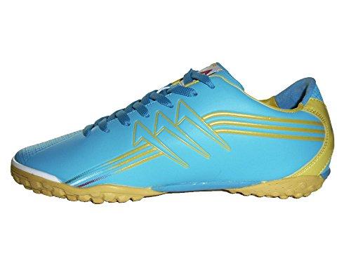 AGLA , Chaussures pour homme spécial foot en salle noir BLACK SILVER EUR 41 bleu ciel