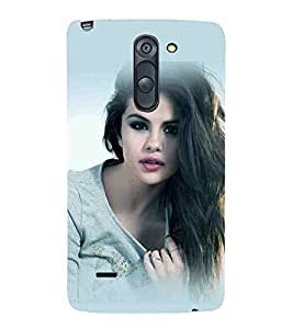 For LG G3 Stylus :: LG G3 Stylus D690N :: LG G3 Stylus D690 beautiful girl, attractive girl, heppy girl Designer Printed High Quality Smooth Matte Protective Mobile Case Back Pouch Cover by APEX