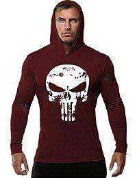 Cabeen Hombre Bodybuilding Fitness Sudaderas Slim Camisetas con Capucha para Culturismo Jogging