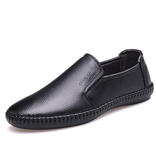 LABIUO Sommer PU Leder Mode Herren Erbsen Schuhe Lässige Atmungsaktive Faule ()