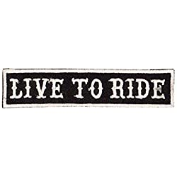 Ecusson Patch Live to Ride @ Kustom Factory