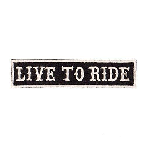 KUSTOM FACTORY - Toppa,  motivo: 'Live to Ride'