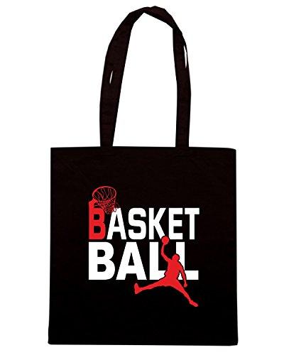 T-Shirtshock - Borsa Shopping T0239 Basketball sport Nero