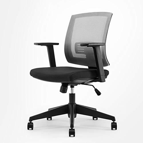 WNNY Office Chair Schreibtischstuhl Drehstuhl Mesh Computer Bürostuhl Ergonomic Design Stuhl Skeletal Back Synchronmechanismus Ergonomischer Bürostuhl , 4 Farben (Farbe : Gray)